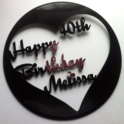 Disco de vinilo Happy birthday. Personalizado. Decoracion retro