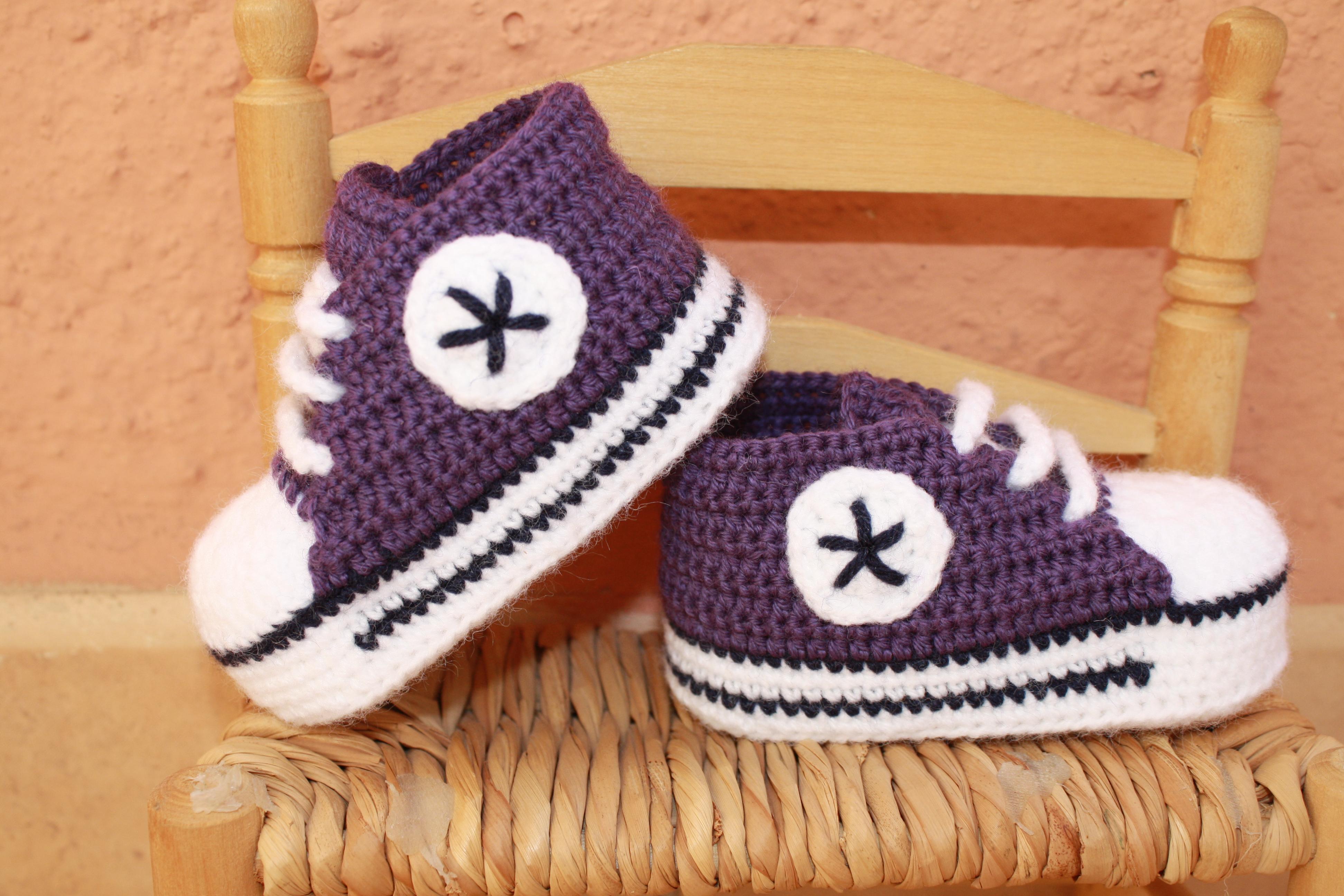 zapatillas converse bebe crochet