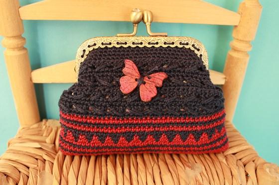 estética de lujo descuento de venta caliente precio de fábrica monedero a crochet con boquilla metalica - Artesanum