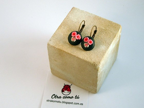 Pendientes de fimo. Fimo earrings.