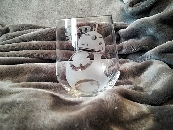 vaso de whisky tallado a mano bb8 star wars