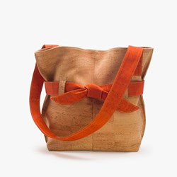 Natural Orange Bow Bag