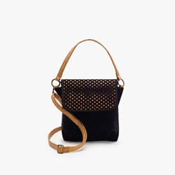 Black Pattern Crossbody Bag