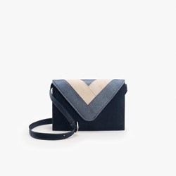 Blue Triangle Crossbody Bag