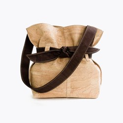 Natural Brown Bow Bag