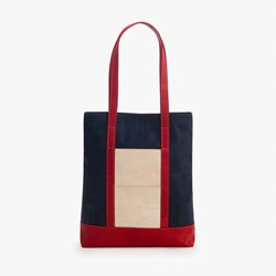 Navy Bordeaux Tote Bag