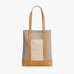 Grey Natural Tote Bag