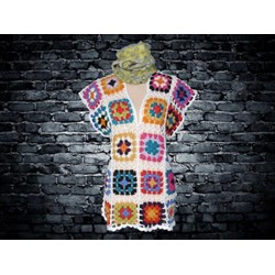 Tunica Playera Crochet  Granny Square