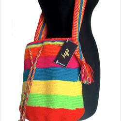 Mochila multicolor - multicolored hand woven bag