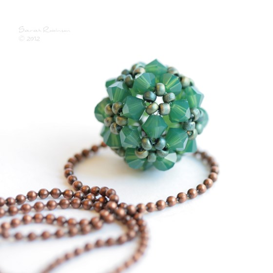 Colgante Little Ball Palace Green Opal