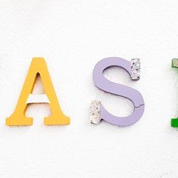 Letras decorativas Wash