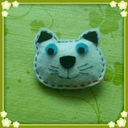 Broche Fieltro Gato