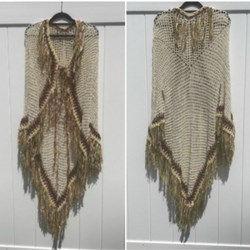 Open Poncho With Sleeves