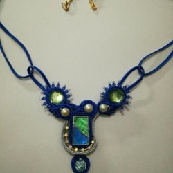 Collar Soutache Azul
