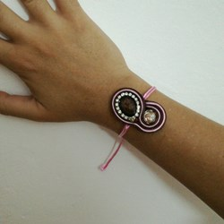 Pulsera ajustable soutache