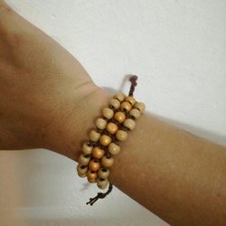 Pulsera ajustable marron