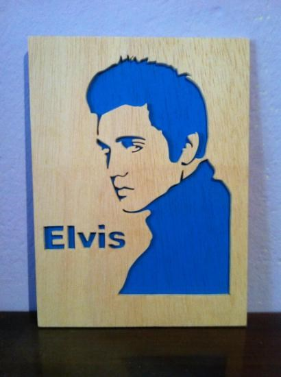 Elvis Presley Cuadro De Madera Decoracion de pared