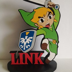 Link figura de madera. The legend of zelda