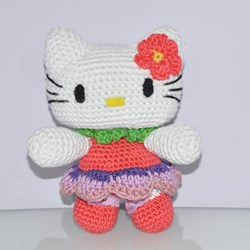 Amigurumi Hello Kitty Flor