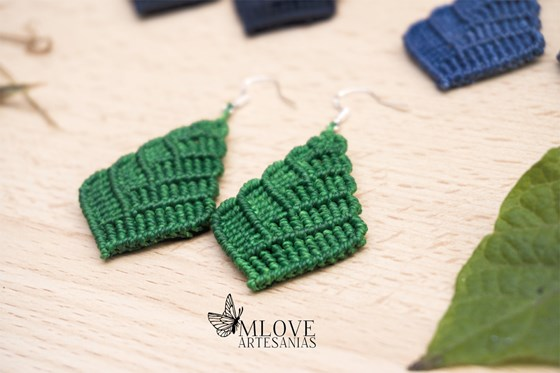 Pendientes macrame. Macrame earrings.Macrame jewelry.Womans gift. Boho jewelry