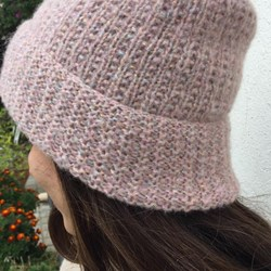 Pink Knit Hat, Women, Ribbed Hat, Beanie , Handmade One Size Gorro, Sombrero mujer, Gift for her