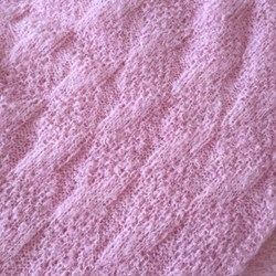 Bed cover, plaid or blanket, very light and warm, pink, large size