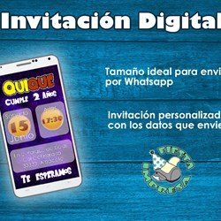 Dragon Ball Super Digital Invitacion envio Whatsapp mesa dulce cumpleaños Comunion fiesta infantil