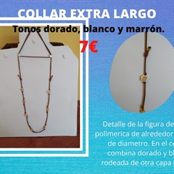 EXTRA LARGO BLANCO, DORADO Y MARRON