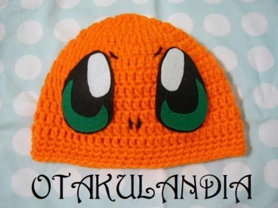Gorro Charmander - Adulto Crochet