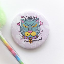Botones Pins de Gato - I Purr U ...So Much! Cat Lovers