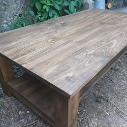mesa de madera maciza, mesa baja de centro, wood solidario products, wood table, wood