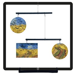 Mobil decorativo Trigal Con Cuervos - Vincent Willem Van Gogh (Hanging Mobile)