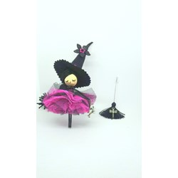 Witch doll brooch