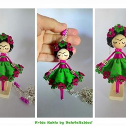 Frida Kahlo Broche-Collar