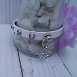 Collar Para Perro,  Mod Flower  Swarovski Elements Xs