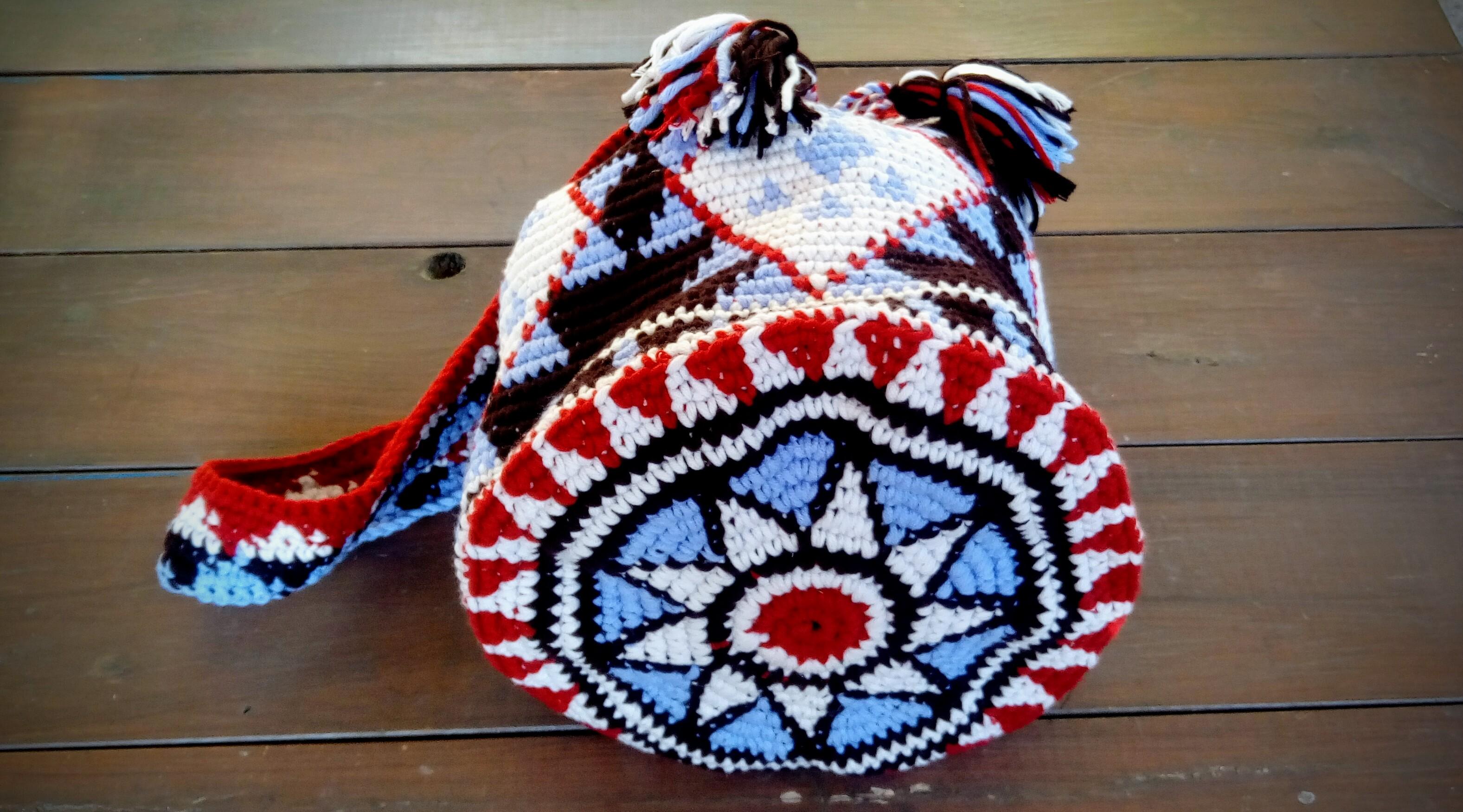 base Artesanum Marrón de oscuro crochet Bolso de circular qn6tHF6w