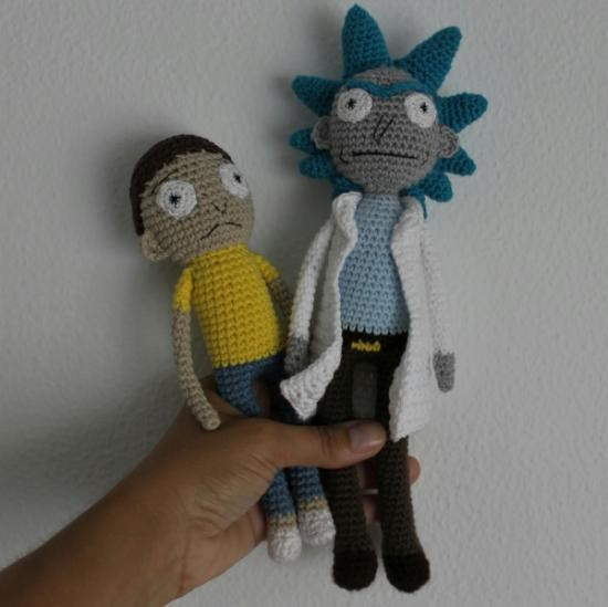 Rick and Morty Rick Sanchez Amigurumi by crushed88 on Etsy ... | 549x550