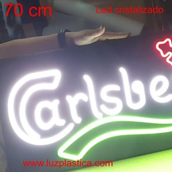 Rotulo cartel letreros luminosos neón led cristal carlsberg