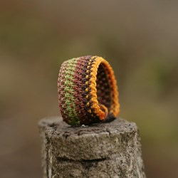 Earth Bracelet Macrame Jewelry Wristbands , Micro macrame, Waxed Polyester