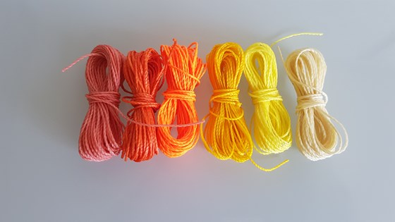 MIX CÍTRICOS HILO ENCERADO 1mm/6 packs de 5 metros/color Pulseras Macramé Thread Waxed