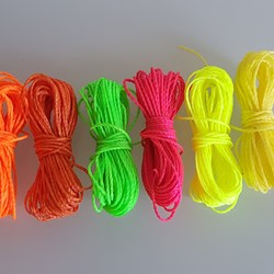 MIX NEÓN HILO ENCERADO 1mm/6 packs de 5 metros/color Pulseras Macramé Thread Waxed