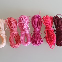 MIX ROSEN PINK HILO ENCERADO 1mm/6 packs de 5 metros/color Pulseras Macramé Thread Waxed