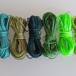 MIX GREEN HILO ENCERADO 1mm/6 packs de 5 metros/color Pulseras Macramé Thread Waxed