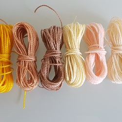 MIX NATURAL HILO ENCERADO 1mm/6 packs de 5 metros/color Pulseras Macramé Thread Waxed