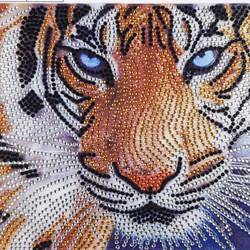 Manualidades DIY Diamond Tigre