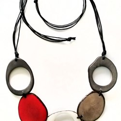 TAGUA JEWELRY. Tagua nut necklaces, handmade necklaces, multicolor necklaces, Colombian necklaces