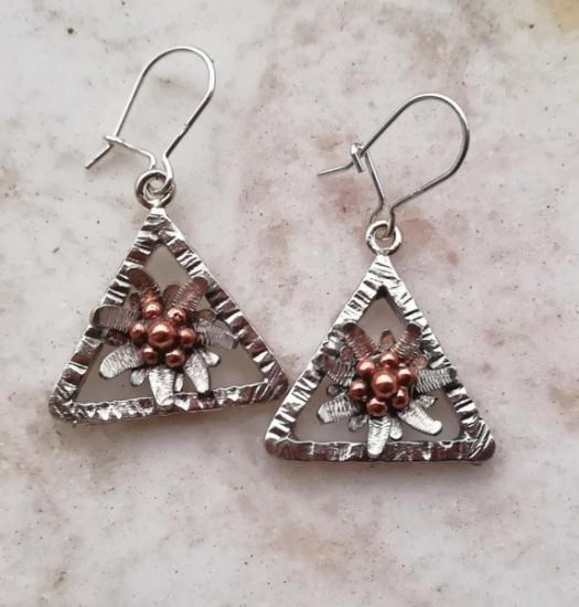 Pendientes Edelweiss Triangulo